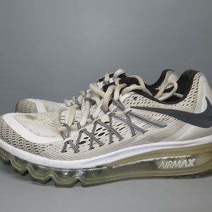 Nike Air Max 2015 White Running Shoes Size 7
